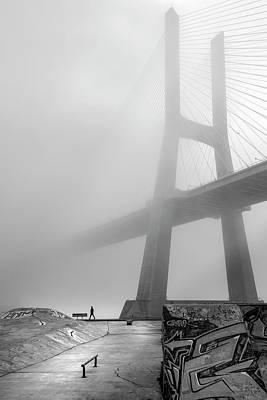Lisbon Photograph - Vasco Da Gama Bridge - Lisbon by Fernando Jorge Gon?alves