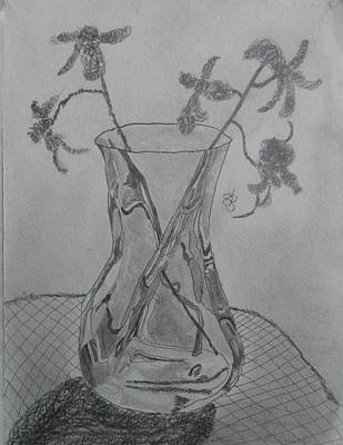 Drawing - Vase by AJ Brown