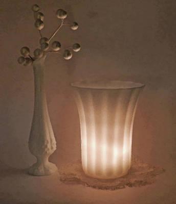 Vase And Bud Vase Art Print by Grace Dillon