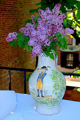 Photograph - Vase And Lilacs by Caroline Stella