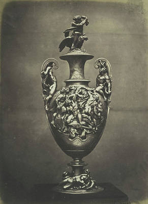 Vase In Repousse Work Art Print by Artokoloro