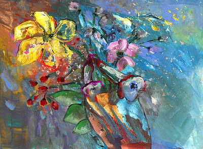 Painting - Vase In The Wind by Miki De Goodaboom