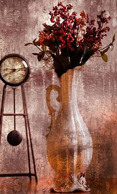 Inspired By Love Digital Art - Vase In Time by Kerry Hauser