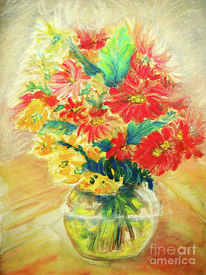 Art Print featuring the painting Vase by Jasna Dragun