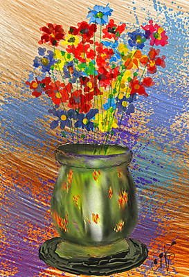 Digital Art - Vase Of Flowers by Dale Stillman