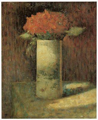 Vase Of Flowers Art Print by Georges Seurat