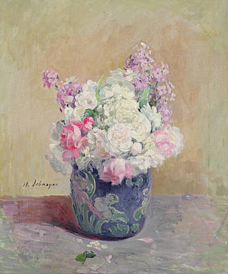 Pottery Painting - Vase Of Flowers by Henri Lebasque