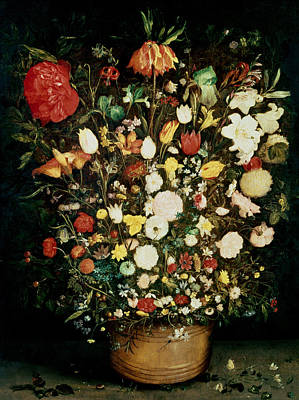 Crt Wall Art - Photograph - Vase Of Flowers by Jan the Elder Brueghel