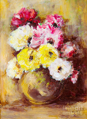 Painting - Vase Of Flowers by Martin Capek
