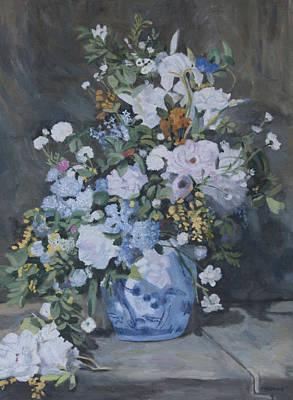 Painting - Vase Of Flowers - Reproduction by Masami Iida