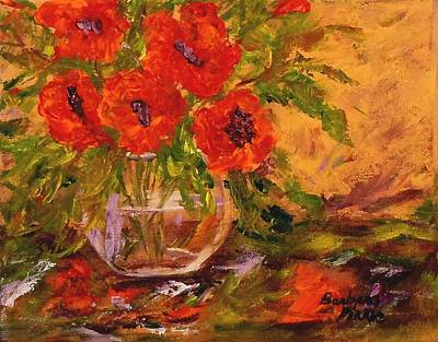 Painting - Vase Of Poppies by Barbara Pirkle