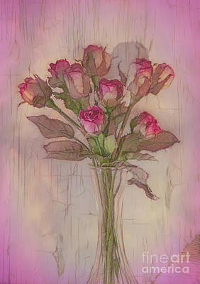Photograph - Vase Of Roses by Judi Bagwell