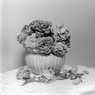 Photograph - Vase Of Roses by William Haggart