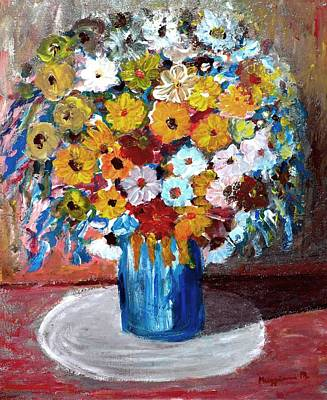 Vase Of Spring Print by Mauro Beniamino Muggianu