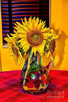 Photograph - Vase Of Sunflowers by Paul Mashburn