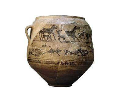 Ceramics Photograph - Vase Of The Goats. 4th C. Bc. Found by Everett