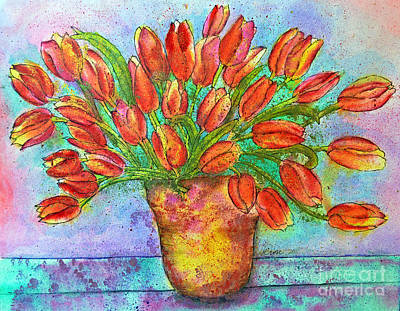 Painting - Vase Of Tulips by Dion Dior