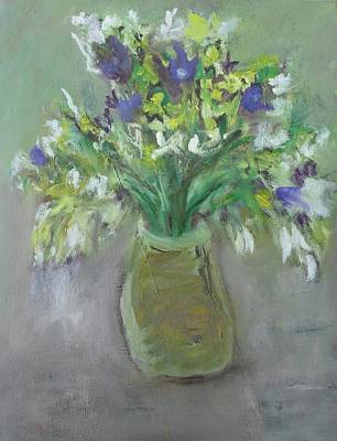 Painting - Vase Of Wild Flowers by Mary Feeney