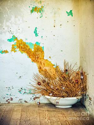 Photograph - Vase On Wooden Floor by Silvia Ganora