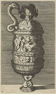 Caravaggio Drawing - Vase With A Sacrificial Scene by Frederick de Wit