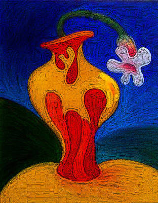 Painting - Vase With Flower by Estefan Gargost