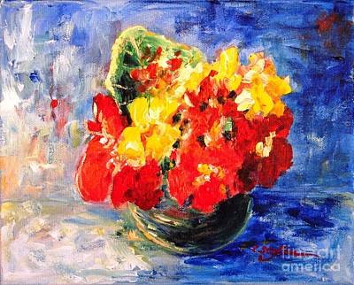 Painting - Vase With Nasturtiums by Cristina Stefan
