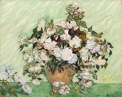 Painting - Vase With Pink Roses by Vincent Van Gogh