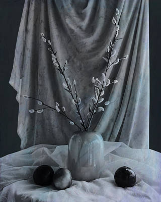 Photograph - Vase With Pussy Willows by Sandra Selle Rodriguez