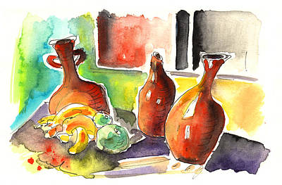 Painting - Vases And Fruits In Tenerife by Miki De Goodaboom