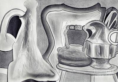 Drawing - Vases And Teacups And Such by Angie Staft