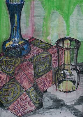 Drawing - Vases by Liz Adkinson