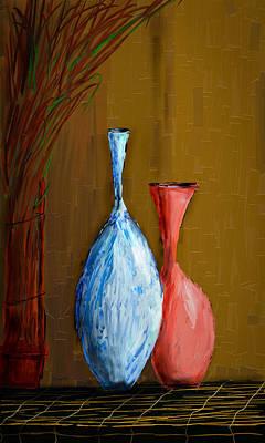 Vases Art Print by Vandana Rajesh