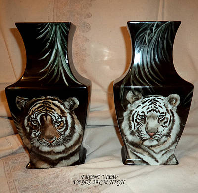 Glass Art - Vases With Animals by Patricia Rachidi