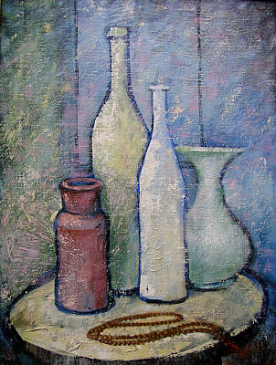 Japa Painting - Vases With Japa Beads by Jemal Gugunava