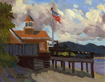 Fourth Of July Painting - Vashon Island 4th Of July by Diane McClary