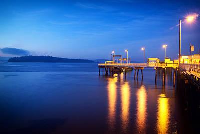 Puget Sound Photograph - Vashon Island Ferry Dock by Tanya Harrison