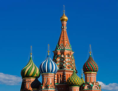 Offbeat Photograph - Vasily The Blessed Cathedral On Moscow Red Square - Featured 2 by Alexander Senin