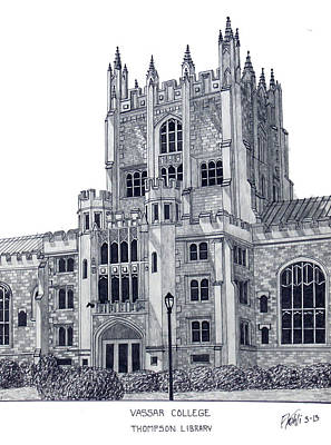 Mixed Media - Vassar College by Frederic Kohli