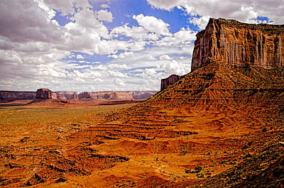 Vast Desert - Monument Valley - Arizona Art Print by Jon Berghoff