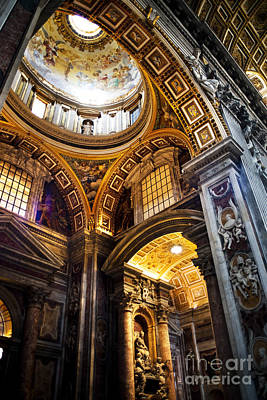 Leadlight Photograph - Vatican Art by Phill Petrovic