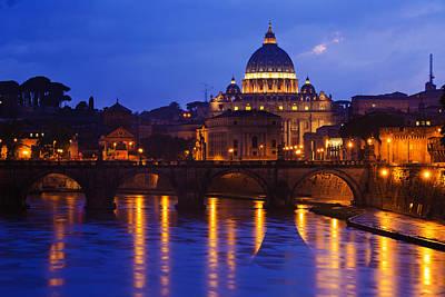 Vatican Blue Hour Art Print by Mircea Costina Photography