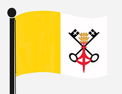 Digital Art - Vatican City Flag by Teri Schuster