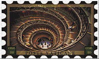 Digital Art - Vatican City Stamp by Teri Schuster