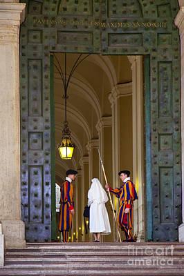 Photograph - Vatican Entrance by Brian Jannsen