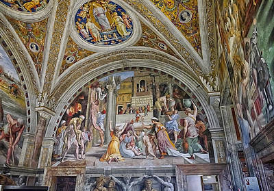 Photograph - Vatican Fresco 2 by Herb Paynter