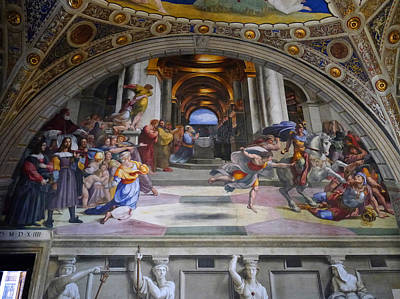 Photograph - Vatican Fresco 4 by Herb Paynter