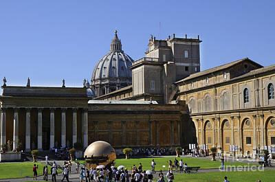 Photograph - Vatican Garden Piazza by Brenda Kean