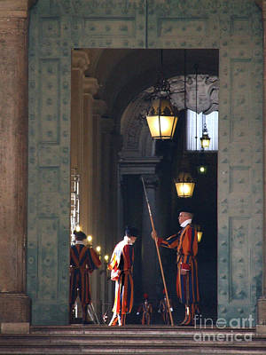 Photograph - Vatican Guards  by Phil Banks