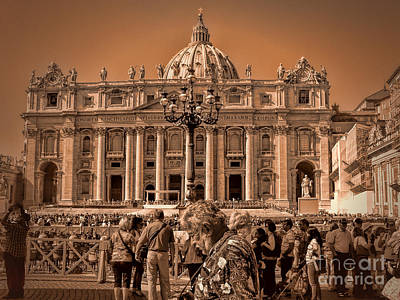 Photograph - Vatican In Sepia  by Karen Lewis