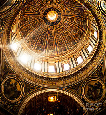 Leadlight Photograph - Vatican Light by Phill Petrovic